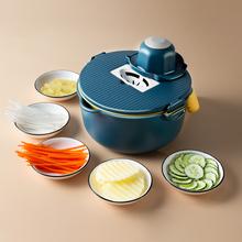 家用多功能切ja神器厨房削qu切片机切刨擦丝切菜切花胡萝卜