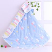 新生儿ja棉6层纱布qu棉毯冬凉被宝宝婴儿午睡毯空调被
