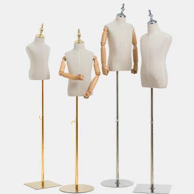 道具展ja橱窗男童模es立体裁剪半身宝宝带头男装童装的形衣架