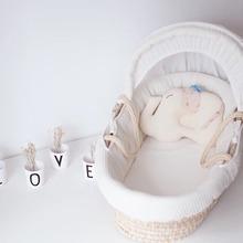 七色花ja儿提篮便携es篮床中床新生儿外出手提篮婴儿出院提篮