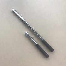 不锈钢ja短单节加粗es杆子 8mm螺口空心迷你手竿割草刀长手把