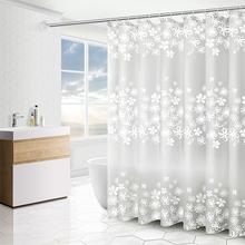 浴帘浴ja防水防霉加es间隔断帘子洗澡淋浴布杆挂帘套装免打孔