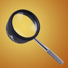 老的看ja用的放大镜an倍 家用鉴别阅读35倍高清光学白玻璃手持