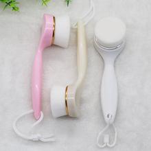 新品热ja长柄手工洁ed软毛 洗脸刷 清洁器手动洗脸仪工具