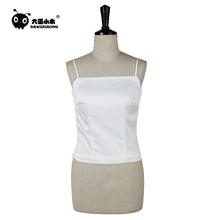 白色吊ja背心女外穿my装内搭简约打底衫夏季双层一字领修身式
