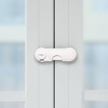 宝宝防ja宝夹手抽屉mi防护衣柜门锁扣防(小)孩开冰箱神器