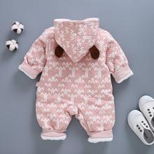 跨境婴ja衣服秋冬婴mi衣加厚婴儿服装婴幼儿爬服