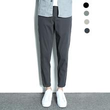 裤子男ja季薄式男士mi男宽松直筒水洗休闲九分裤男潮流百搭
