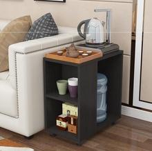 可带滑ja(小)茶几茶台mi物架放烧水壶的(小)桌子活动茶台柜子