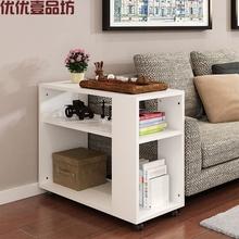 带轮移ja多功能沙发mi(小)方桌实木中式台型角泡车间客