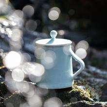 山水间ja特价杯子 mi陶瓷杯马克杯带盖水杯女男情侣创意杯