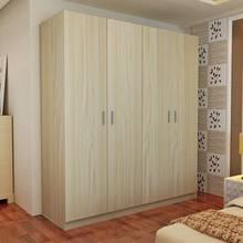 衣柜简jc现代经济型cw式234门衣柜子卧室木质推拉门组装衣橱