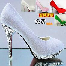高跟鞋je新式细跟婚ai十八岁成年礼单鞋显瘦少女公主女鞋学生