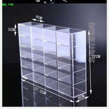 仕梅迪je示架子货架ha机玻璃格子陈列柜家用产品(小)汽车公仔商