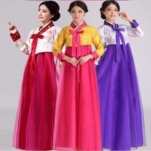 韩服大ji今舞蹈表演ba鲜族女服装民族服饰改良韩国韩服女
