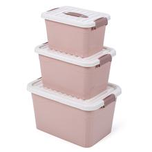 内衣储物盒子塑料桌面整理箱印ji11收纳盒hu宿舍神器三件套