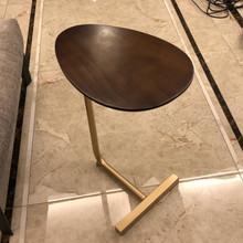 创意简jic型(小)茶几hu铁艺实木沙发角几边几 懒的床头阅读边桌