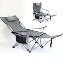 户外折ji子便携式钓ui钓鱼椅午休午睡床椅露营休闲沙滩椅