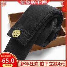 女童牛ji裤加绒加厚at穿三层棉裤保暖中大童宝宝女弹力(小)脚裤
