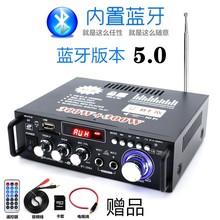 迷你(小)ji音箱功率放un卡U盘收音直流12伏220V蓝牙功放