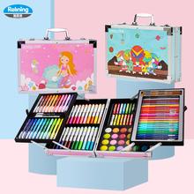 瑞莱茵ji装木盒画画ra园宝宝绘画套装彩色笔安全无毒可水洗蜡笔美术(小)学生宝宝手绘
