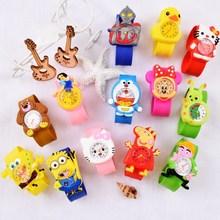 女孩2ji3岁4男孩ra卡通防水硅胶宝宝玩具手表宝宝幼儿女童(小)童