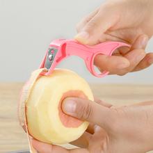 苹果去ji器水果削皮at梨子机切薄皮刮长皮不断的工具打皮(小)刀
