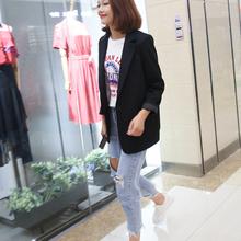 (小)西装ji021春季ka松新式中长式百搭chic长袖休闲西装外套女