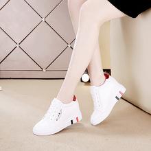 春式(小)ji鞋女 20ng式百搭鞋子女休闲韩款透气坡跟鞋