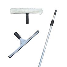 不锈钢ji璃刮水器家zb擦玻璃器伸缩杆子清洁器刮刀包邮