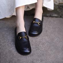 Artjju阿木20sc式英伦(小)皮鞋穆勒鞋单鞋一脚蹬乐福鞋马衔扣女鞋