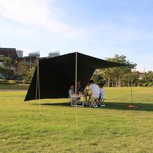 加厚黑jk防暴雨防晒pf大天幕帐篷野外活动露营挡雨遮阳棚定制