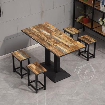快餐桌jl组合经济型cm题(小)吃店饭店餐桌椅餐厅面馆食堂桌子