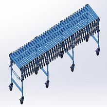伸缩滚jl输送线 无cl筒线 可延长拉伸 弯曲 伸缩输送机 辊筒