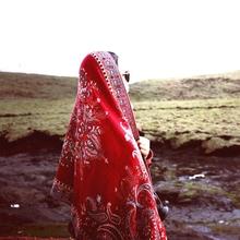 民族风jl云南旅游红pt防晒围巾 西藏内蒙保暖沙漠围巾
