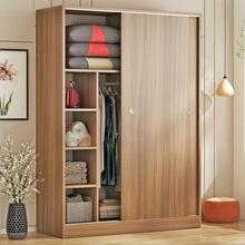 衣柜推jm门实木现代m1易组装卧室宝宝木质衣橱板式出租房宿舍