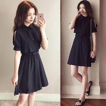 超仙森jn连衣裙女2lp夏季新式法国显瘦夏天短裙子收腰(小)众桔梗裙