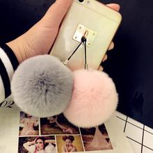 ins新品韩国超大jo6兔毛球手on绒可爱创意相机挂饰包包挂件