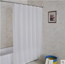 纯白色jo店卫生间淋er帘浴帘套装免打孔加厚防霉挂帘