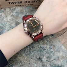 手表女大表盘超大jo5酷韩款个ie洲站冷淡风大气复古牛皮手表