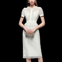 夏季2jo20新式女ph蕾丝长裙气质修身裙子短袖显瘦中长式连衣裙