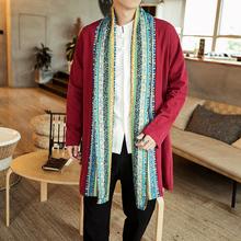 藏装男jo新式藏式外ce服饰西藏喇嘛藏族服装藏袍民族风上衣服