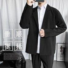 (小)西装jo套男韩款潮mc帅气超火网红修身上衣休闲百搭