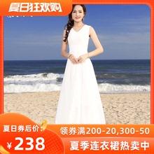 绿慕2jp20气质修wh长式夏季女装大摆雪纺长裙仙