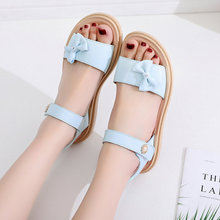 女童凉jr(小)学生20qp式时尚韩款夏季宝宝童鞋女中大童软底公主鞋