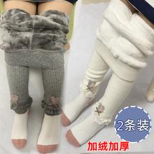 女宝宝棉裤冬季加厚1-3岁女童加绒打jr15裤(小)儿ks子秋冬外穿
