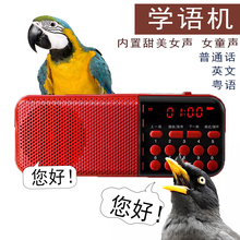 包邮八哥鹩哥鹦鹉鸟用学语机学说话js13复读机ah话学习粤语