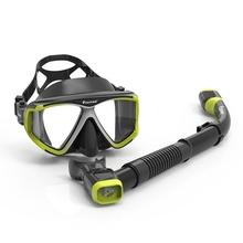 潜水面js浮潜三宝面qd面罩成的防雾浮潜装备游泳面镜