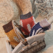 韩国学js风堆堆袜女ho秋冬圣诞女袜潮流日系加厚保暖子