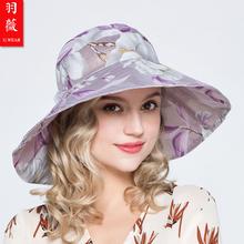 羽薇 jt士太阳帽春xh彩色遮阳帽防晒防紫外线纱帽帽檐可折叠
